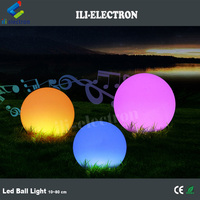 10~80 cm diameter waterproof colorful plastic led ball light