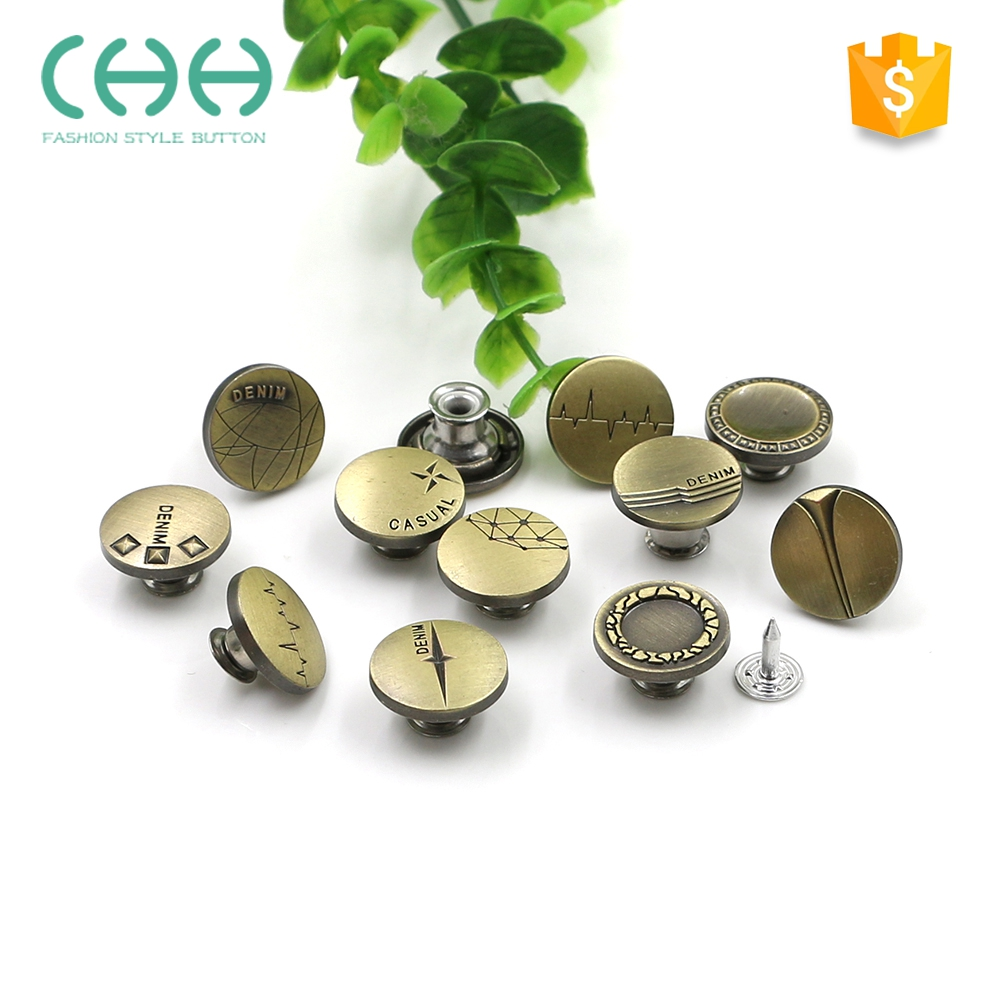 Custom made exquisite fashion eco-friendly metal press stud buttons