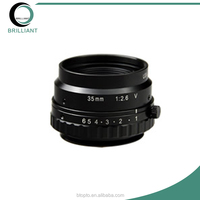 10MP 1/2 inch Format V-mount Manual Iris 35mm Fixed Focus Industrial Lens