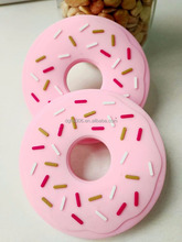 Hot selling donut shape silione baby teether for Wholesale