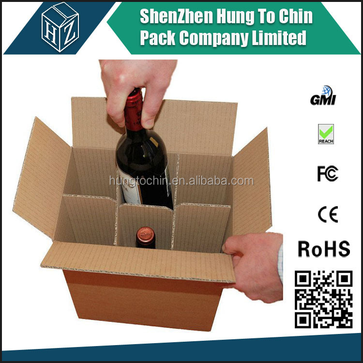 Hot sale cardboard 6 pack bottle beer carriers,cardboard bottle carrier Supplier