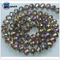 Hot selling 4mm jewelry beads making machine pujiang bead landing reflective crystal wholesale beads for necklace
