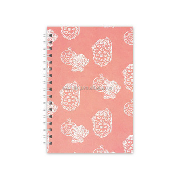 A5 Custom Printing Pink Paper Spiral Bound Daily Weekly Monthly Planner Notebook