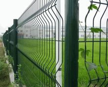 4x4 PVC coated welded wire mesh fence with curves