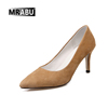 free sample Fashionable Slip-on Pointed toe Simple High heel pumps Women shoes