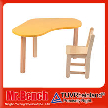Classroom Wooden Montessori Furniture, baby furniture children table chair set