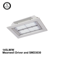 gas station led canopy lights 120w LED recessed water proof gas station down lights with Bridgelux chip