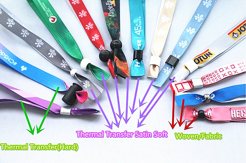 Personalized thermal transfer fabric cloth wristbands NFC 8K 350*15/16mm bracelet ticket
