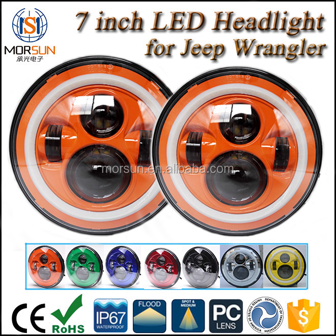 7 inch led headlight morsun,7 inch sealed headlight for jeep
