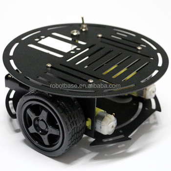 AS-2WD Aluminium Mobile Robotic Car Platform(1:48 DC Motor)