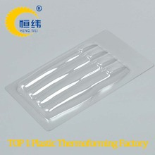 Daily necessities plastic blister packaging 5 pieces toothbrush use with plastic lid and fixed button