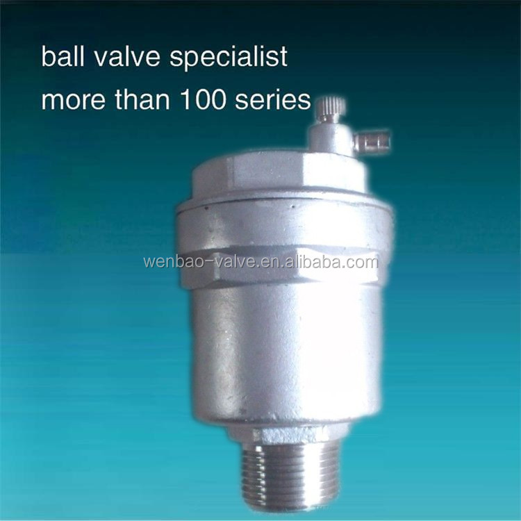 Pipe Line Automatic Air Vent Valve Stainless Steel Air Valve