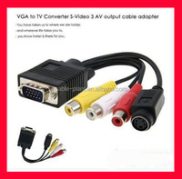 VGA TO TV Convertefer S-Video 3AV Output caple adapter