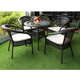 Balcony used exotic outdoor furniture 5pcs chair table