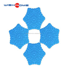 JianMei Brand Heat-resistant Hexagonal shaped mat Silicone cup Coaster