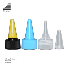 24/410 Long tip nozzle cap,screw plastic cap with long nozzle