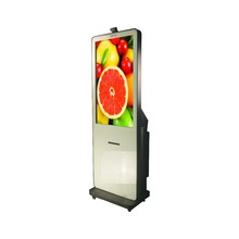 photo booth printer kiosk with wheels and easy to move