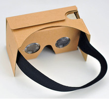 Custom Brand Google Cardboard VR Glasses Virtual Reality DIY Google Cardboard custom logo Virtual reality glasses OEM