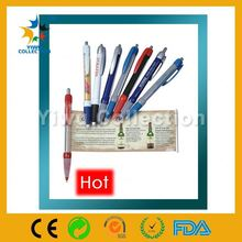 mini gel banner pen,cheapest plastic pens,bouncing head ballpen