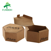 alibaba china supplier wholesale in bulk stocking burger cup cake bread donut food packing kraft paper hexagon packaging box