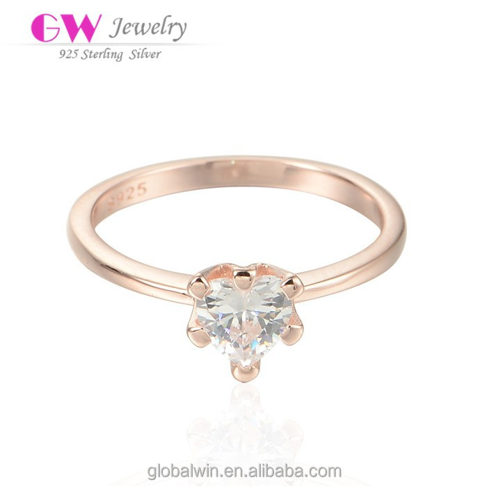Latest Gold Finger Ring Designs CZ Diamond Ring For Women Wholesale