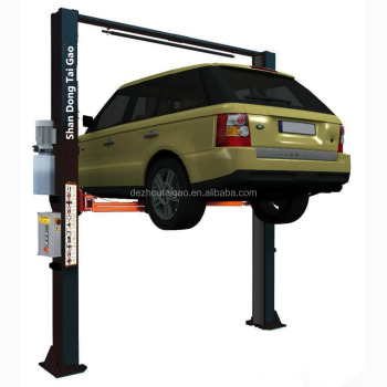 4 ton cheap double post clear floor hydraulic car lifts elevator lift price