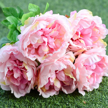 ZERO Silk Giant Peonies Fake Silk Flower Peony 5 Flower Heads Peony for Decoration