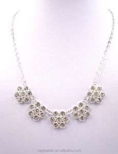 Necklace sliver plated in Zinc Alloy jewelry