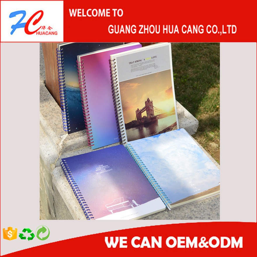 PP cover spiral notebook with lined/ hot-selling high quality notebook for promotion