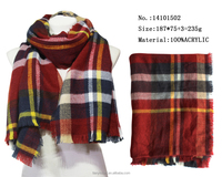 Brand New England Style Stripe and Plaid Scarves Winter Warm Scarf Knitted Scarfs Yiwu Factory Wholesale