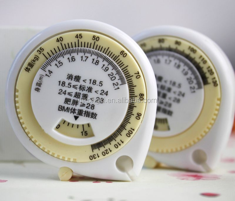 waterdrop shape body tape measure/BMI caculator/ BMI tape