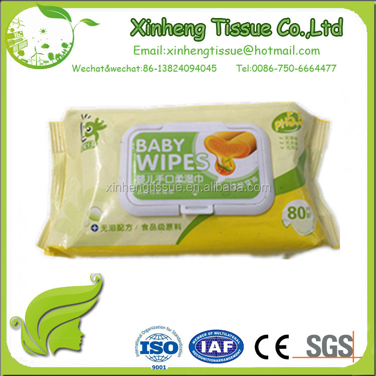 No more tears formula of baby wipes
