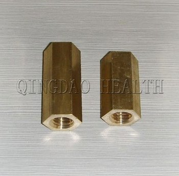 "6/8"" Brass Hex Nut"