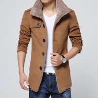 2016 New Design Latest Styles Fancy 100% Alpaca Coat For Men