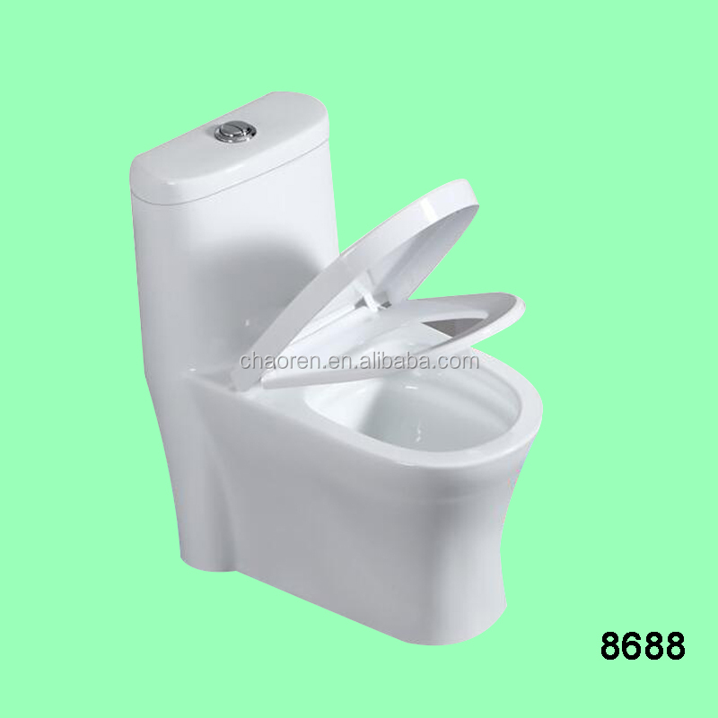 4 inch Siphon flushing one piece toilet ceramic sanitary war ewc toilet bowl