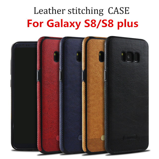 China Phone Case Manufacturer Custom Logo Genuine Pu Leather Phone Case For Samsung Galaxy S8, S8Plus