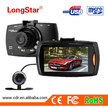 Trade Assurance Dual lens Car DVR 1080P Dual cameras dash camera