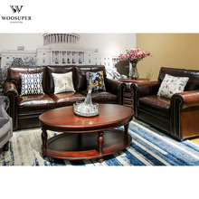 Hot sale leather sectional sofa antique leather sofa set living room <strong>furniture</strong>