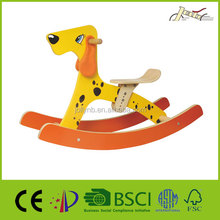 Baby Wooden Rocking Horses Toy with Dog Shape for kids