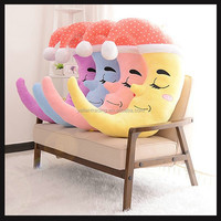 cute moon toy plush emoji pillow stuffed toys