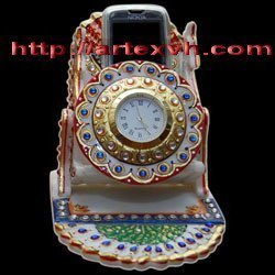 stone clock with stand handphone