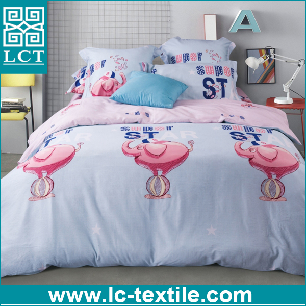 wholesale no MOQ limited 100% cotton animal printed duvet cover set kids