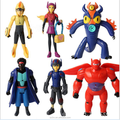 Custom made 4inch tall anime figure toys/making big hero movies action figure toys