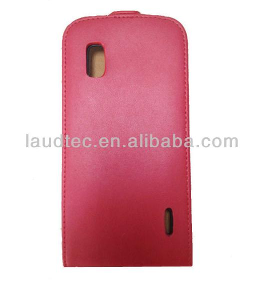 Leather Case For LG E960 Nexus 4, Ultra Slim Flip PU Leather Case for LG Nexus 4 E960, Laudtec