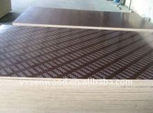 Stamped film faced plywood for concrete construction