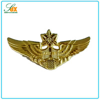 Popular top sell souvenir gifts metal gold pilot wing pin badge