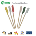 Reusable decoration bamboos kewers paddle sticks for BBQ