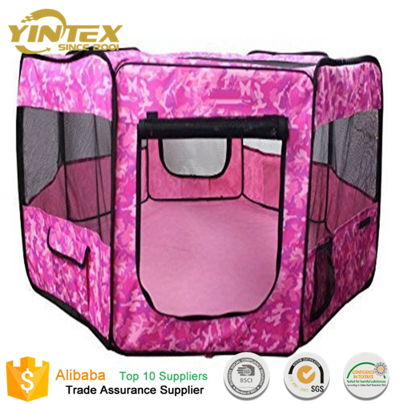 Wholesale Cheap folding Portable Hexagon Large Pet Dog Playpen Cage