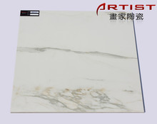 v[Artist Ceramics] polished white marble stone tiles porcelain 600x600 800x800 1000x1000 1200x600 AIM1616