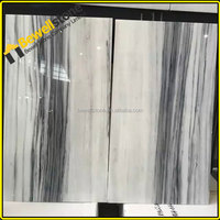 Most popular black white veins marble sichuan white marble tiles, welcome white marble buyer from worldwide